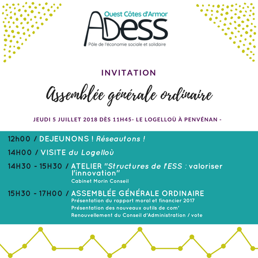 Assemblée Générale ADESS OCA 2018